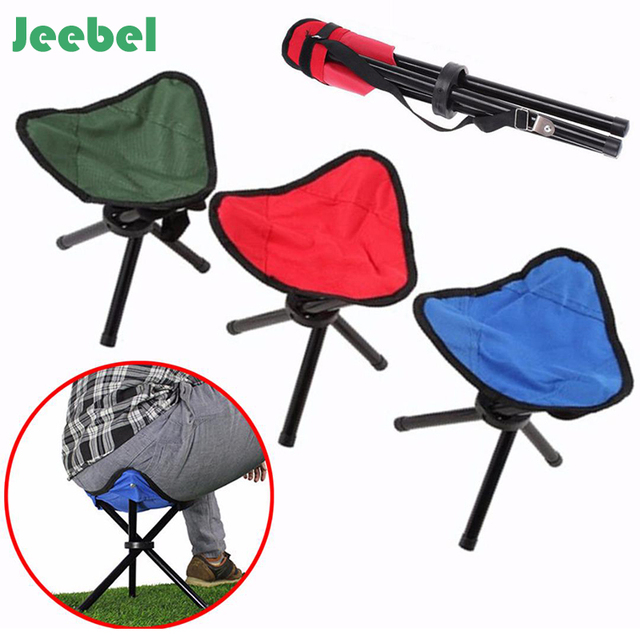 Jeebel Portable Folding Chair Camping Foldable Stool Tripod Seat For