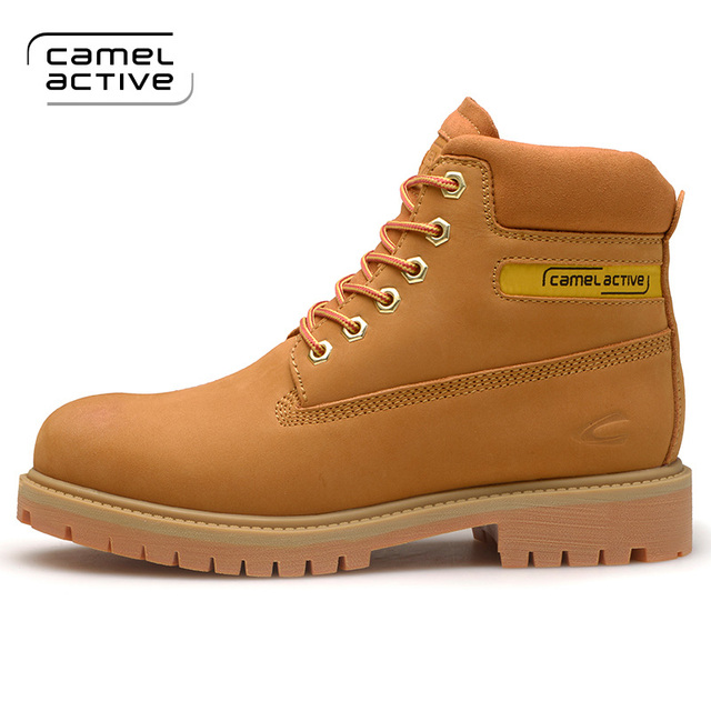 Camel Active 2018 Super Warm Winter Men Boots Genuine Leather Boots Men Winter  Shoes Men Military