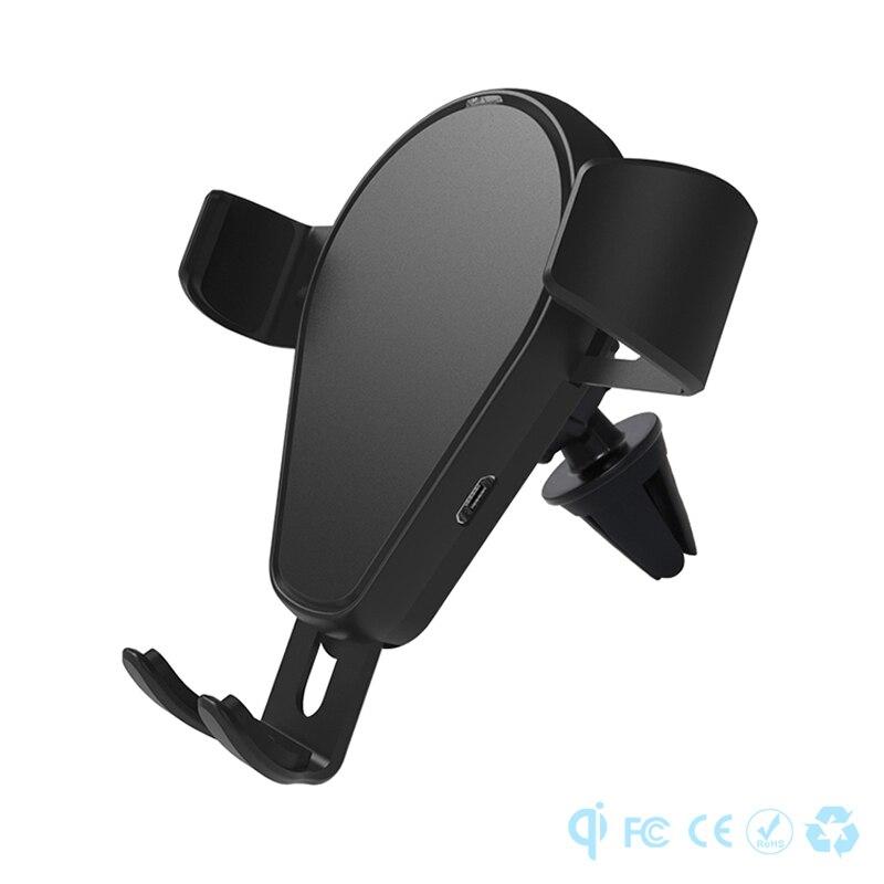 Chargeurs mobiles KT02 pour iPhone x 8 Samsung Qi support de gravité certifié support pour téléphone réglable voiture USB chargeur rapide sans fil
