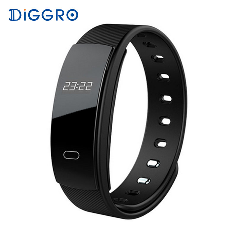 Diggro QS80 Smart Bracelet Blood Pressure Wristband Heart Rate Tacker Bluetooth Smart Band Fitness Bracelet for IOS Android
