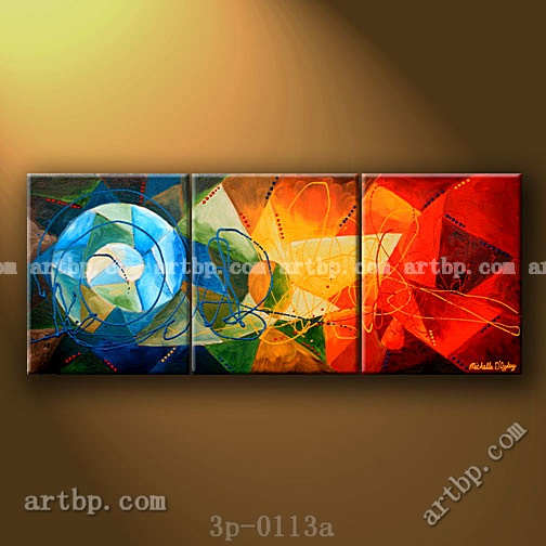 Fire And Ice Oil Painting On Canvas A Designs Abstract Art 3