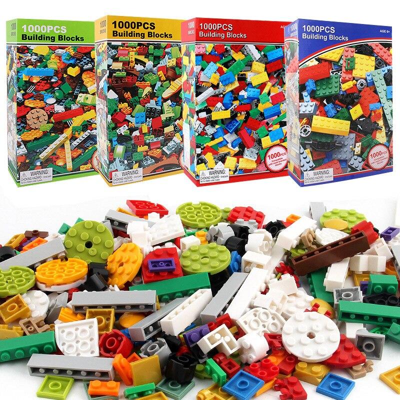 1000 piezas DIY minunids ecrafted bloques de construcción creativos juego de aprendizaje juguetes educativos para niños Compatible Legoe regalo de Navidad