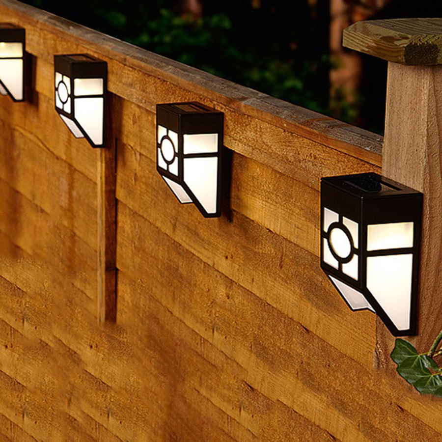 5pcs/Lot Solar Powered Led Lamps Outdoor Waterproof Led Wall Lamps ...