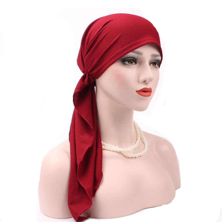 7399c6dcffe New Women Fashion Muslim Turban Hats Indian Caps Wrap Cap Women Cancer  Chemo Hats For Women