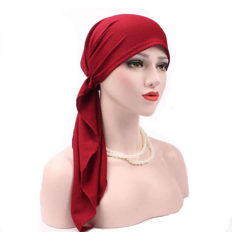 83deded0498b5 New Women Fashion Muslim Turban Hats Indian Caps Wrap Cap Women Cancer  Chemo Hats For Women