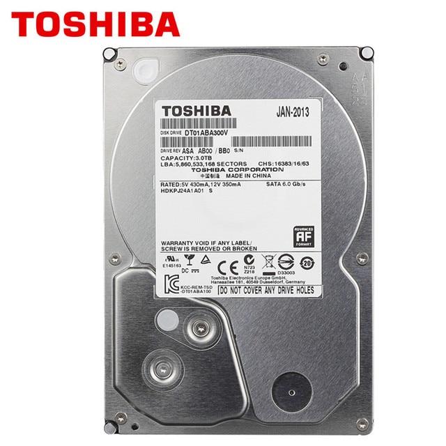 "TOSHIBA 3TB Monitor Hard Hisk HDD DVR NVR CCTV 3000GB Internal SATA 5900RPM 32MB 3.5"" HD"