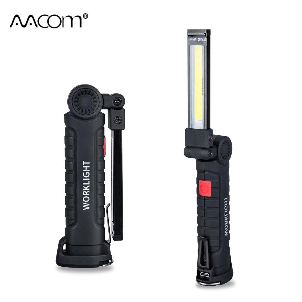800 Lumen COB LED Arbeits Lichter 5 W 10 W 5 Modi IP44 Tragbare Scheinwerfer Mit Magnetische USB Aufladbare Notfall taschenlampe