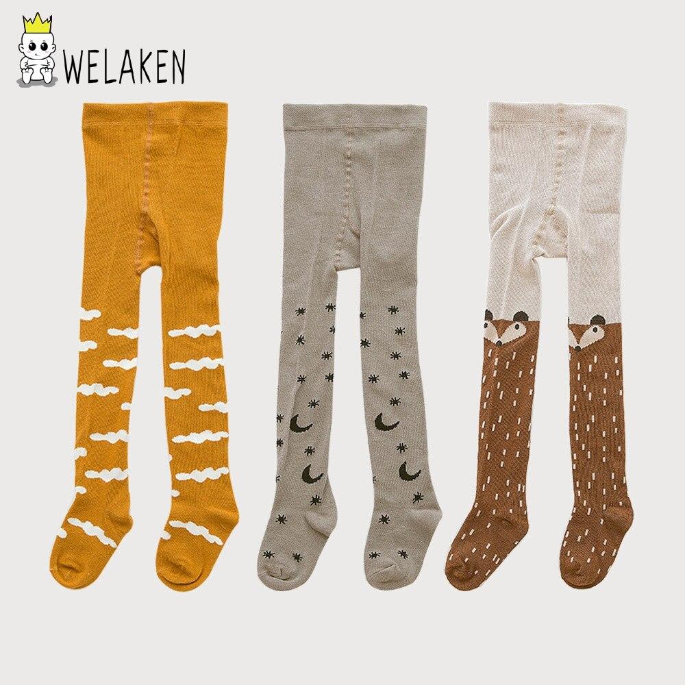 WeLaken 3 Pz/lotto Kawaii Bambini Collant per 0-3Yrs Molle Del Bambino Del Cotone Delle Ragazze Dei Ragazzi delle Calze Per Bambini Collant Infantili Calzamaglia