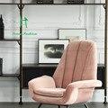 Nordic face / Holland furniture brand ASIADES/Bardox velvet armchair / lounge chair / smoke powder