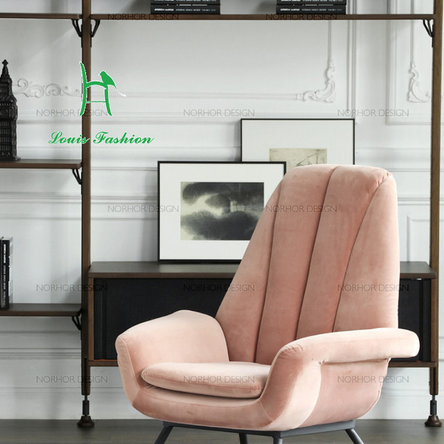 Nordic Face / Holland Furniture Brand ASIADES/Bardox Velvet Armchair /  Lounge Chair / Smoke