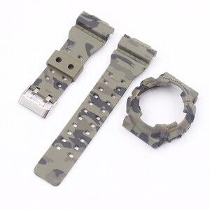 Image 2 - Watch Accessories Camouflage strap For G SHOCK GA 110 100 GD 120 Men Womens Watch Strap