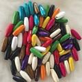 Nueva Llegada 22*8mm Cuentas De Madera Natural de Color Mezclado DIY Cuentas Hechas A Mano Para la Joyería Que Hace 100 UNIDS/LOTE