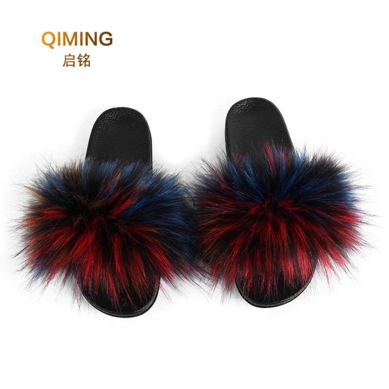 vegan fur slippers