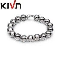 KIVN Fashion Jewelry 10mm Round Ball Beaded Bridal Wedding Bracelets for Women Girls Mothers Promotion Birthday Christmas Gifts