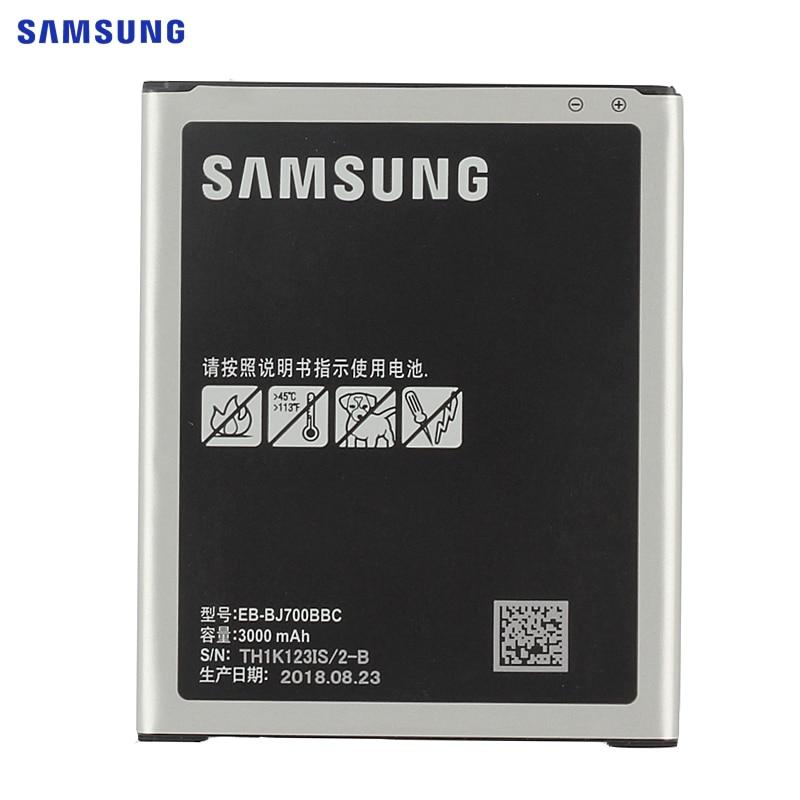 SAMSUNG Bateria Original EB-BJ700BBC EB-BJ700CBE Para Samsung GALAXY J7 2015 J7009 J7000 SM-J700f SM-J701F SM-J700M SM-J700H/DS