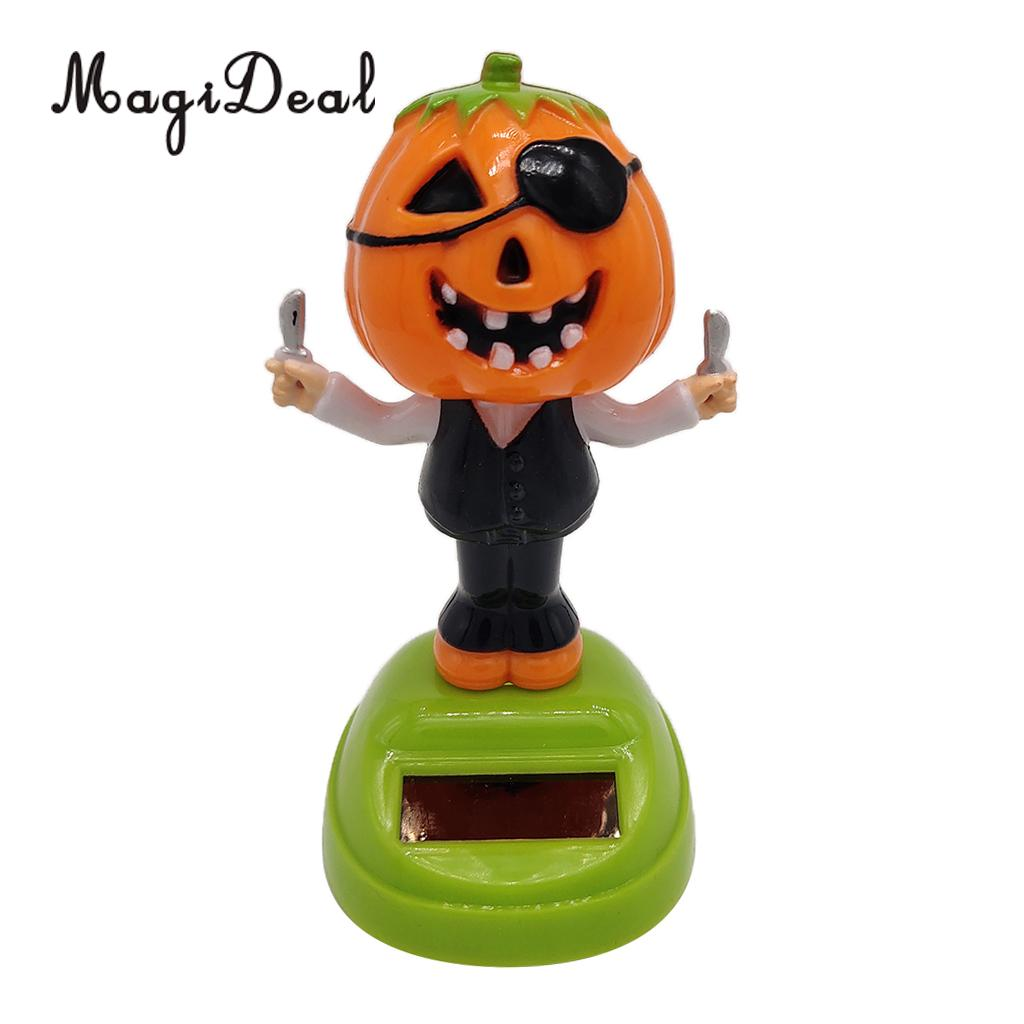 Solar Powered Dancer Toy Bobbing Halloween Pumpkin Car Auto Home Decoration