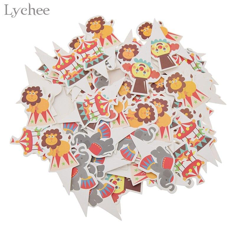 Lychee Life 100 шт. искусственные топперы для капкейков, милые животные, Детские праздничные торты, товары для дня рождения и нового года