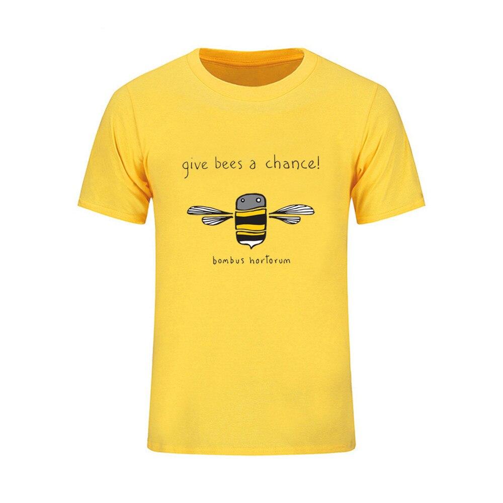 Geben mir eine chance Honig Bienen großhandel herren t shirts xxl 2018 mode 3d lustige t shirts marke streetwear kleidung t hemd homme