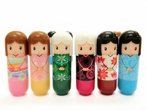 LEARNEVER 1 PCS Lovely Princess Doll Lip Balm Lipstick Moisturizer Free Shipping M01118