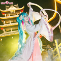 Hatsune Miku Cosplay VOCALOID Anime the Mid-Autumn Festival White Polyester Uwowo Costume