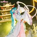 VOCALOID Hatsune Miku Cosplay Anime el Festival del Medio Otoño de Poliéster Blanco Uwowo Traje