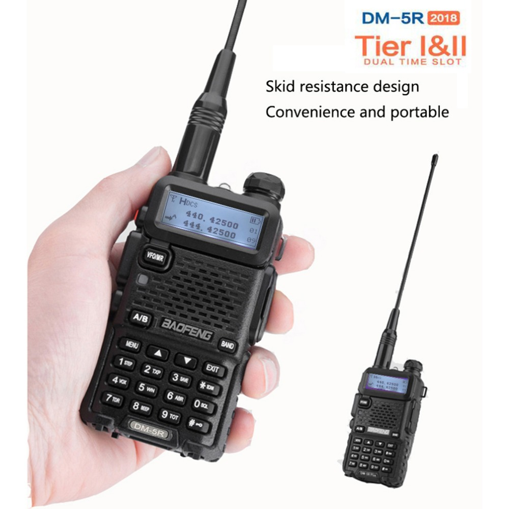 Baofeng DM 5R Portable Digital Walkie Talkie Ham VHF UHF DMR Radio Station Double Dual Band Transceiver Boafeng Amador Woki Toki-in Walkie Talkie from Cellphones & Telecommunications