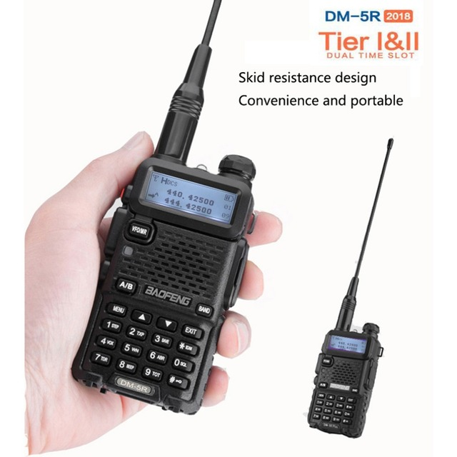 Baofeng DM 5R Portable Digital Walkie Talkie Ham VHF UHF DMR Radio Station Double Dual Band Transceiver Boafeng Amador Woki Toki