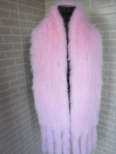 2016 Braid Real fox fur premium quality pink  big size 185*20cm scarf / cape  collar    SHIPPING FREE
