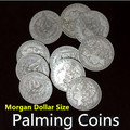 10pcs Palming Coins (Morgan Dollar size Version),Coin Magic Tricks,Magic Accessories,Stage,Close Up,Illusion