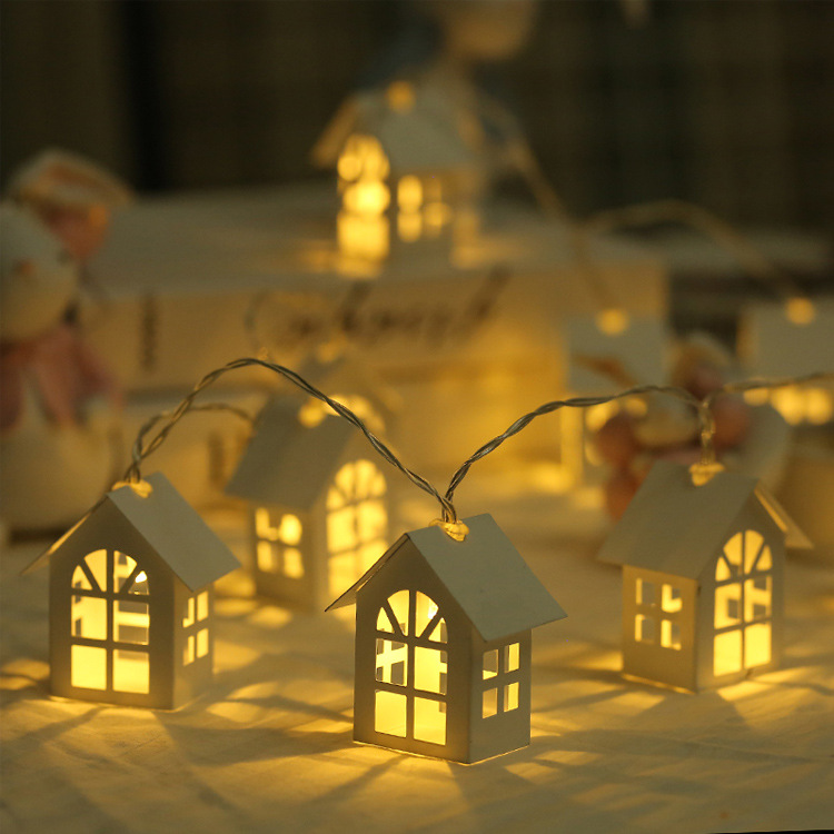 Image 3 - 1.5M 10pcs LED Christmas Tree House Style Fairy Light Led String wedding natal Garland New Year christmas decorations for home-in LED String from Lights & Lighting on