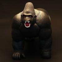Original genuine wild Animals super big monster KING KONG silverback gorilla figurine kids educational Figure children toy