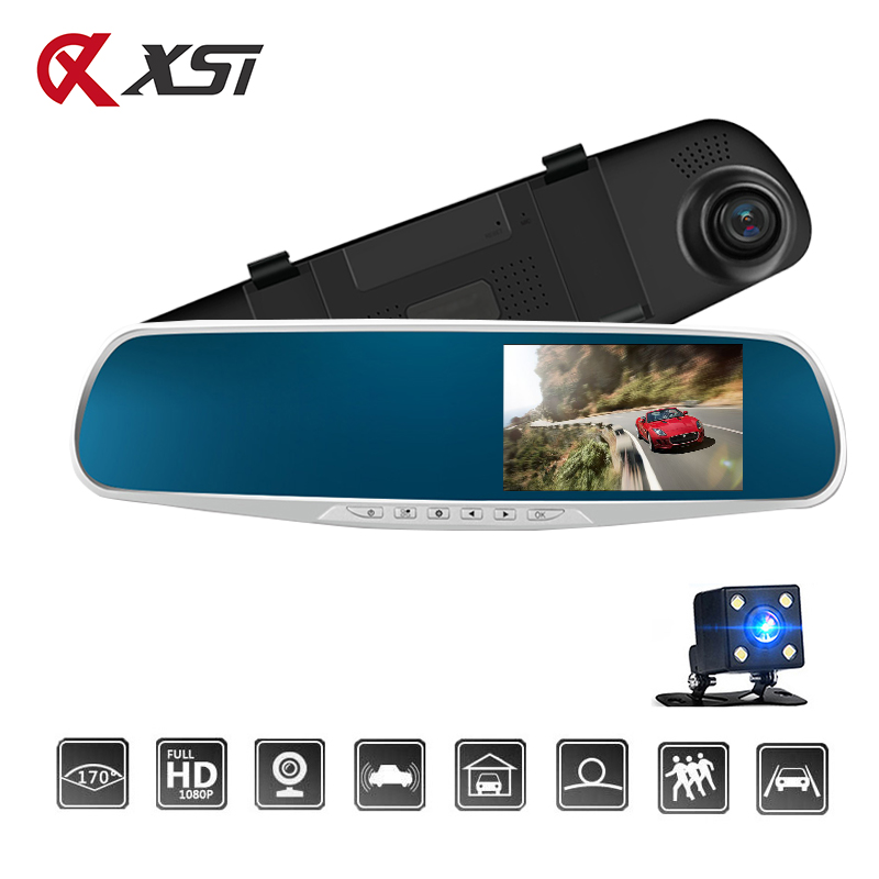 XST Car Dvr Mirror Dual Lens Rear View Camera Auto Full HD 1080P Dash Camera For