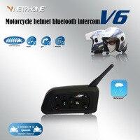 2017 Updated Version Vnetphone V6 6 Riders Pro Motorcycle Helmet Bluetooth Intercom Headset Moto BT Interphone