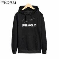 Pkorli Hold Hoodies Men Just Hodl It Sweatshirt Male Casual Long Sleeve Pullover Bitcoin Hoodie Spring