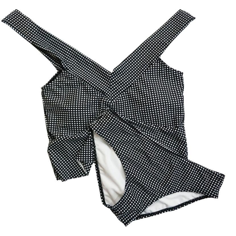 2018 Women Sexy Split Dot High Waisted Bikini Swimsuit Push Up Padded Bikini Top Zaful Swimwear Summer Beach Swiming suit