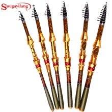 Wholesale Sougayilang 1.8/2.1/2.4/2.7/3.0/3.6M Telescopic Fishing Rod Carbon Fiber Material Caro Fishing Spinning Rod Seawater Fishing Rod