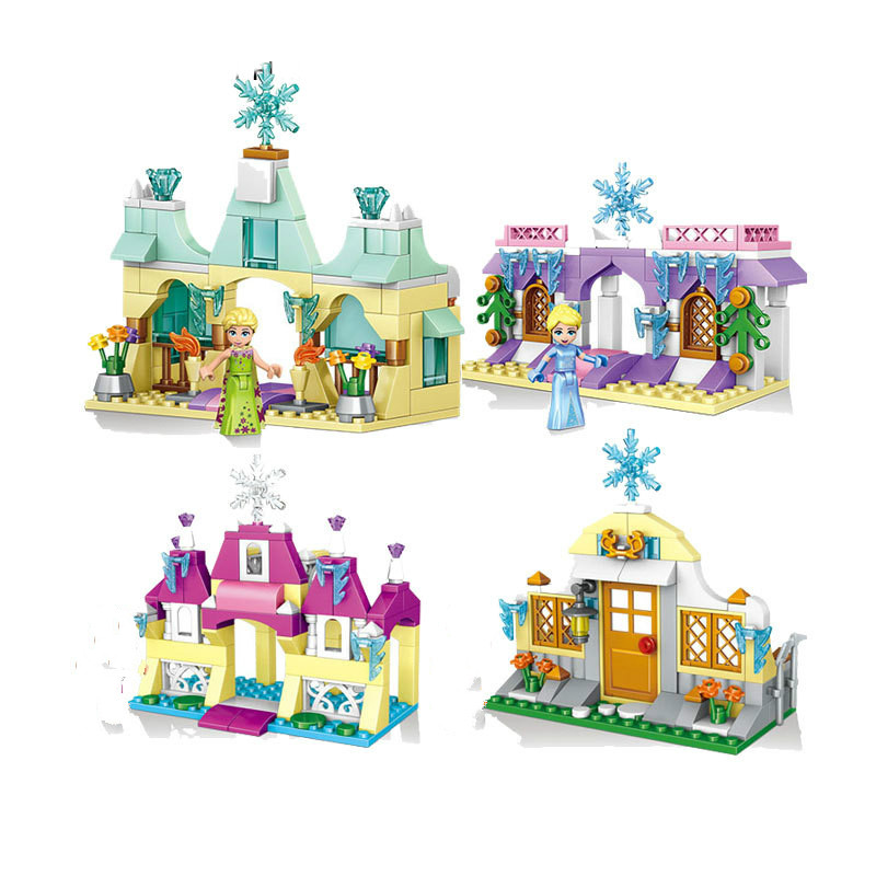 Hot Fairy Tale Princess Dream Deep Sea Snow Castle Building Block Elsa Beauty Mermaid Figures Bricks Lepins Toys for Girls Gifts hot city series aviation private aircraft lepins building block crew passenger figures airplane cars bricks toys for kids gifts
