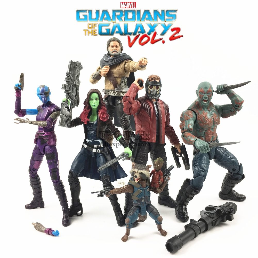 цена на Marvel Legends 6 Guardians of the Galaxy Vol 2 Movie Action Figure Star Load Gamora DRAX Nebula EGO Rocket Raccoon Toys Collect