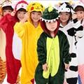 Kid adultos pijamas de franela cama manta animal de dormir mono del mameluco de los niños saco de dormir onesie unicornio home clothes