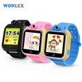 Wonlex 3g wcdma inteligente crianças relógio de pulso gps tracker lbs gps wifi posicionamento com rotatable câmera do relógio do bebê