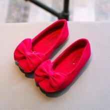 Модная детская танцевальная обувь принцессы; платье для девочек; обувь с бантом; обувь для вечеринок на плоской подошве