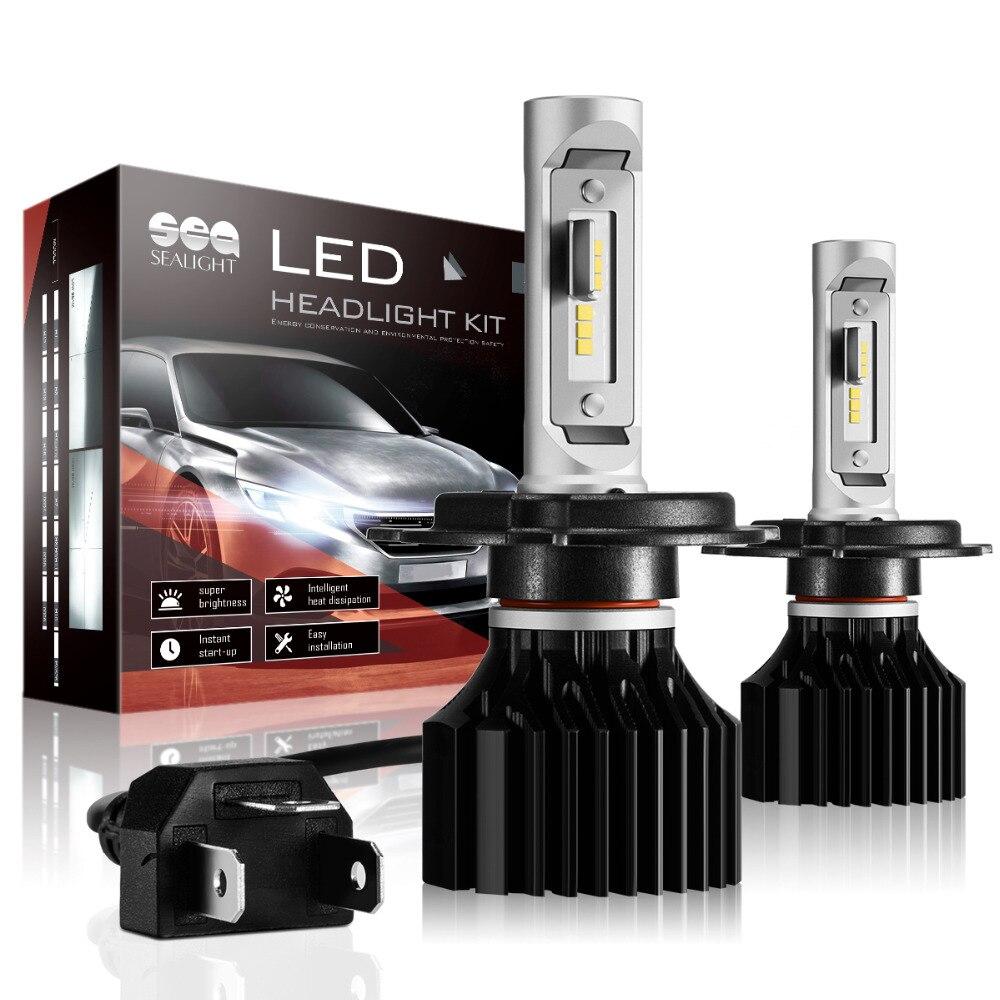 SEALIGHT Auto Scheinwerfer H4/HB2/9003 Hallo-Lo Strahl LED H7 H8/H9/H11 HB3/9005 HB4/9006 H1 abblendlicht 6000 Karat 6000Lm nebelscheinwerfer selbstbirne