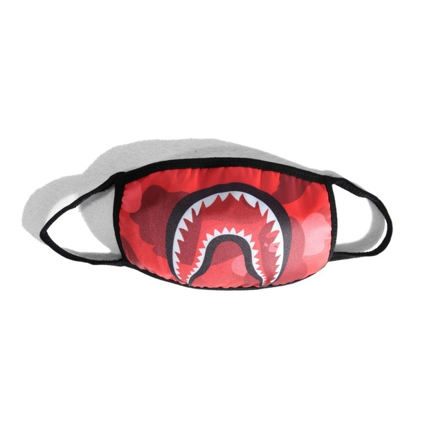 Cartoon Fashion Mask Shark Mouth Print Dustproof Anti-pollen 1PC Personality Mask Unisex European And American Street Mask 1