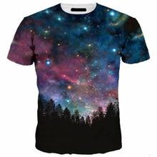 3D Tshirt Men Galaxy Stars Night Print Leisure Summer T-shirt Fashion Streetwear Slim Fitness Tee Shirt Hipster Plus Size 5XL