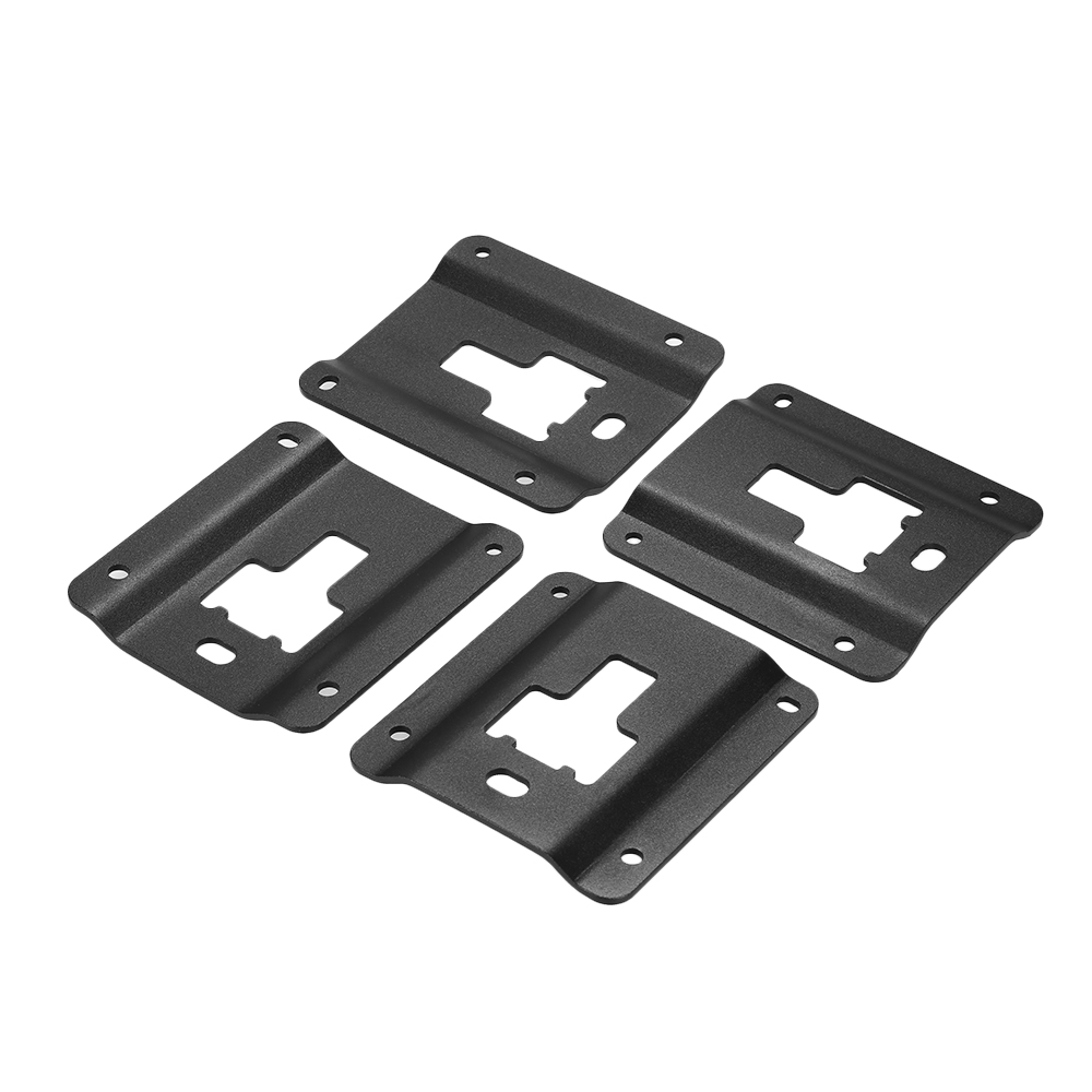 4Pcs Truck Bed Cargo Tie Down Brackets Plates Bed Load Hook Reinforcement Panel Fit for Ford F150 F250 F350 2015 2018