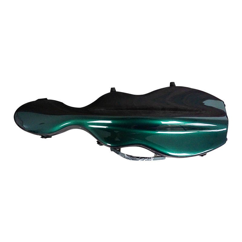 Violin case. Blackish green glass fiber 4/4 violin case. A variety of colors can be customized #04 Blackish green new glass fiber 4 4 violin case light strong 122 pink color