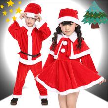 Kids Christmas Santa Claus Clothes With Hat