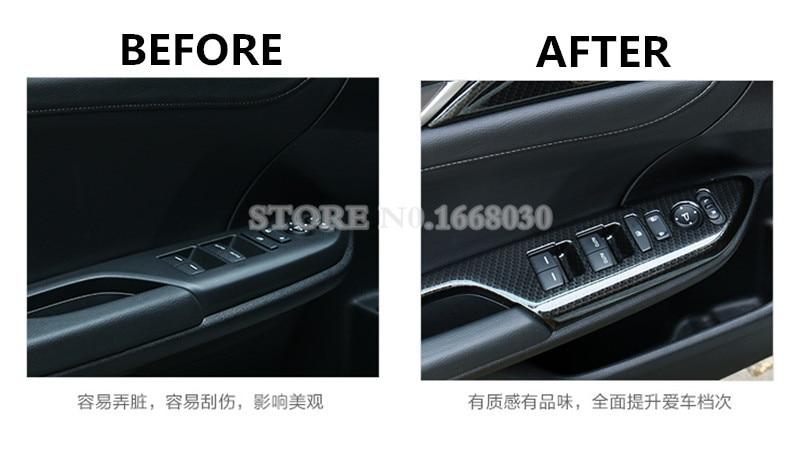 ABS Carbon Fiber Style Door Armrest Window Window Cover For Honda - Ավտոմեքենայի ներքին պարագաներ - Լուսանկար 3