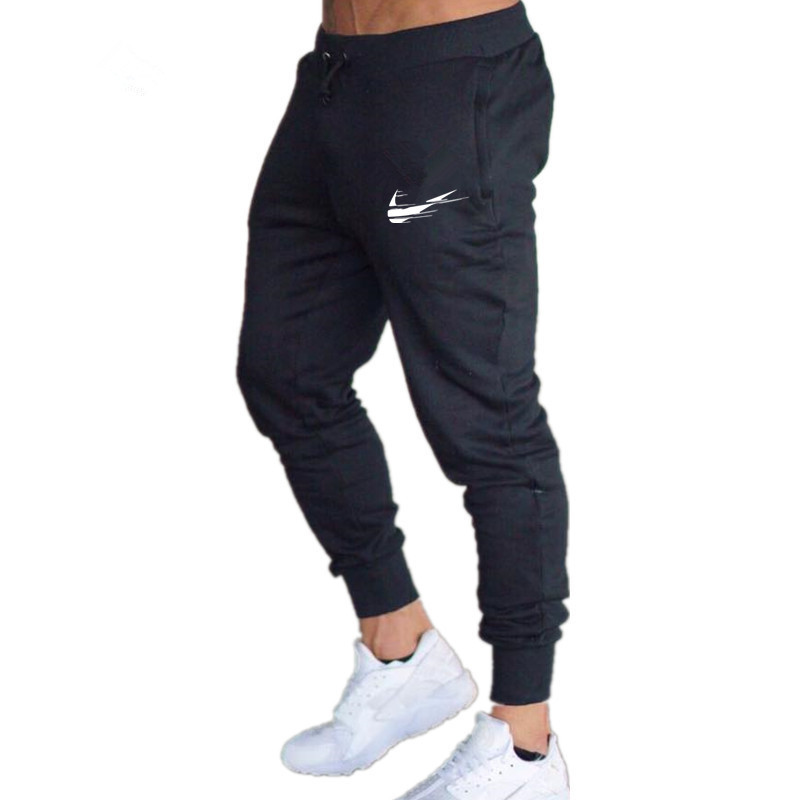 2018 New Males Joggers Model Male Trousers Informal Pants Sweatpants Males Health club Muscle Cotton Health Exercise Hip Hop Elastic Pants