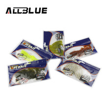 ALLBLUE Salty Fishing Lure 10pcs/lot 7cm/2g With Salt Artificial Soft Bait  Vivid Swimbaits Fishing Tackle Pesca isca artificial